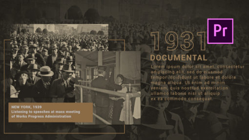 Z-Day History Slideshow Premiere Pro Template