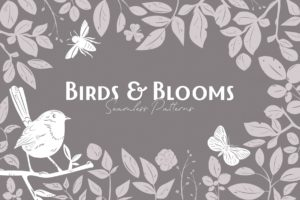 Birds & Blooms Seamless Patterns