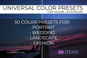 Universal Color Lightroom Presets Pack 3