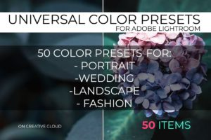 Universal Color Lightroom Presets Pack 4
