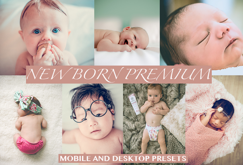 NEWBORN Desktop + Mobile Lightroom Presets
