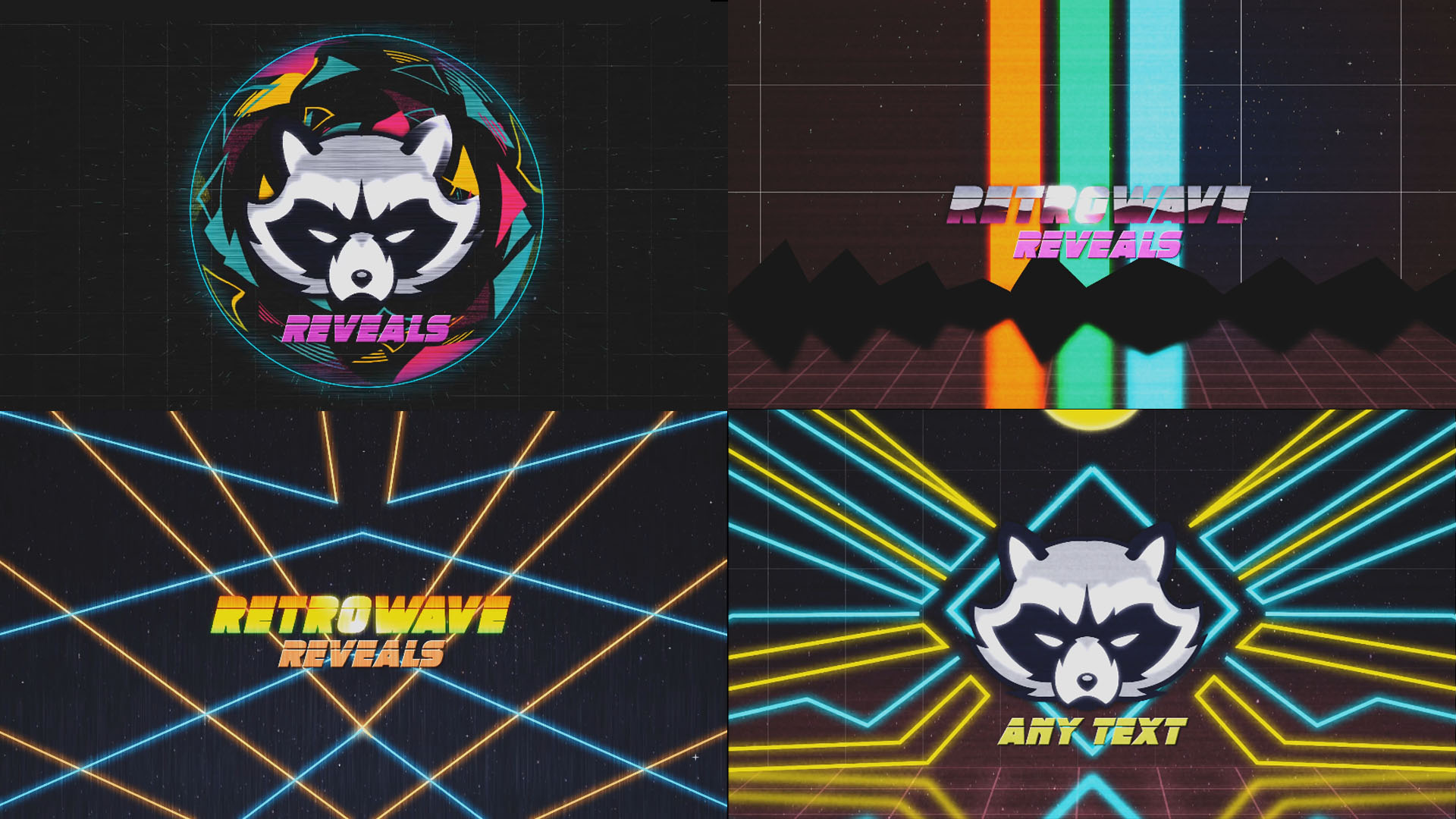 80's Retro Logo Reveal Kit (After Effects)
