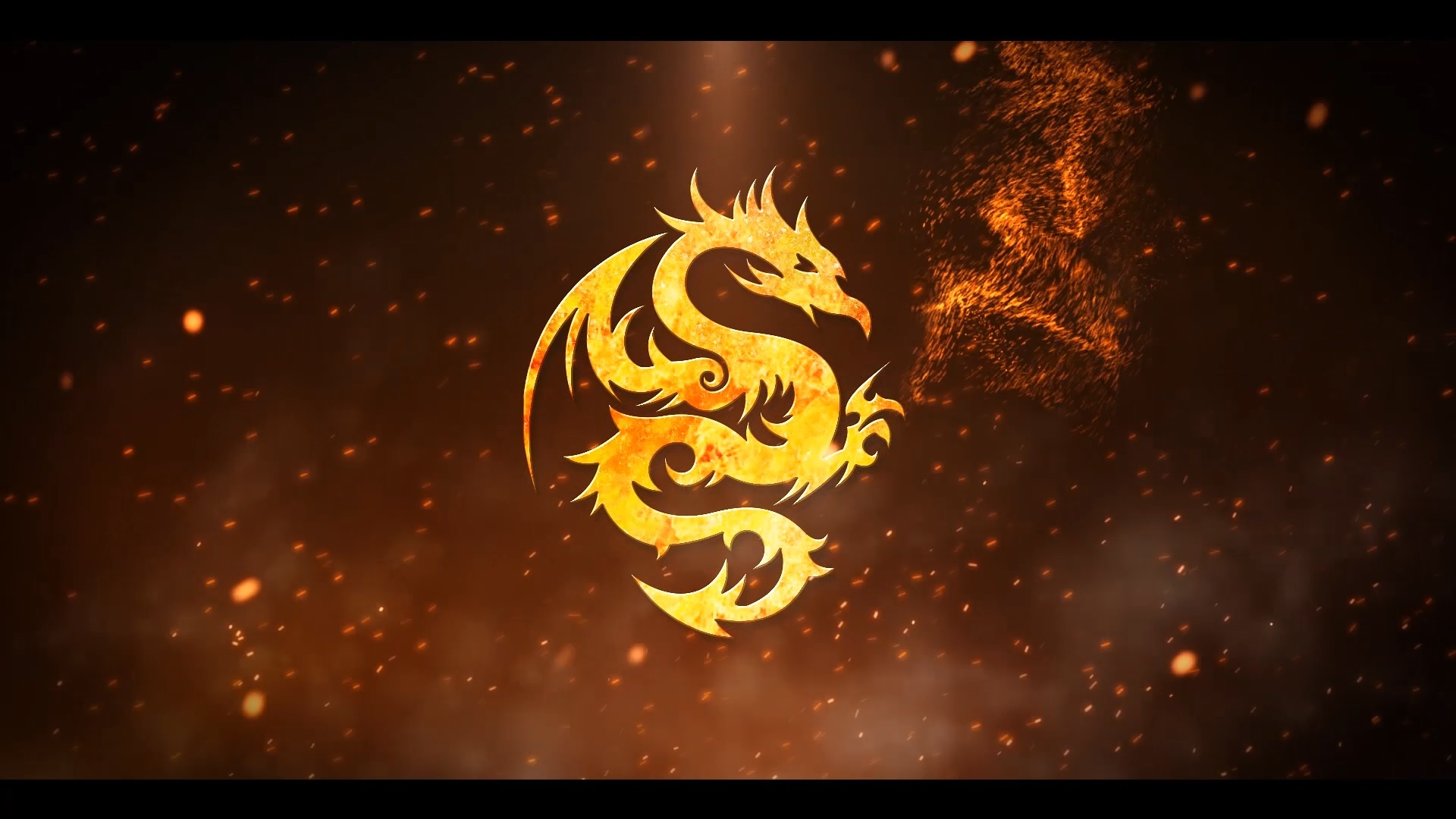 Particle Fire Logo Reveal (After Effects)