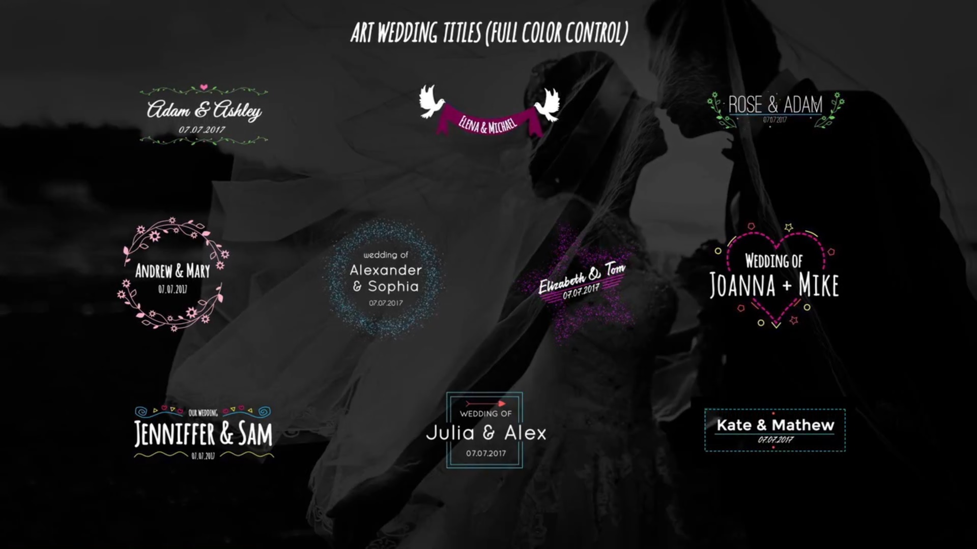 Art Wedding Titles (After Effects)