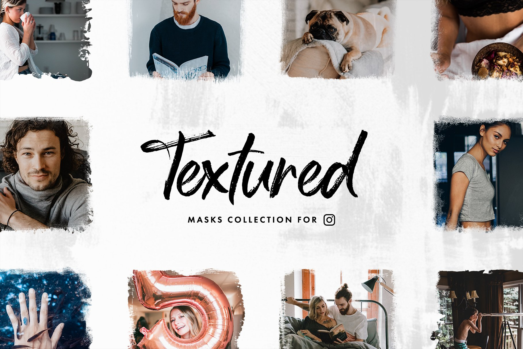 textured masks collection for instagram updates