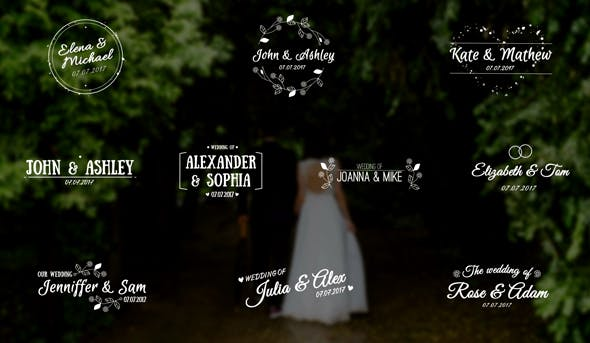 Elegant Wedding Titles (After Effects Template)