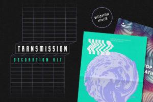 Transmission Warp Text Effects (Illustrator)