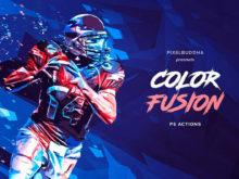 Color Fusion Paint Photoshop Actions