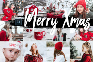 5x Merry Xmas Desktop Lightroom Presets