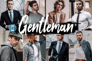 5x Gentleman Mobile Lightroom Presets