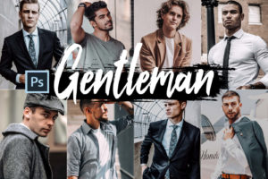 5x Gentleman Photoshop Actions and LUTs
