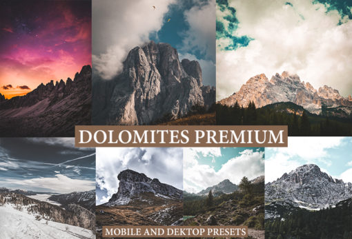 9 DOLOMITES Mobile + Desktop Lightroom Presets