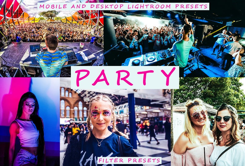 Party Nightlife Desktop + Mobile Lightroom Presets
