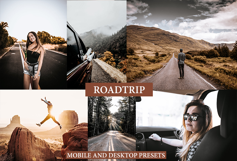 9 ROADTRIP Mobile + Desktop Lightroom Presets