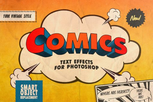 Vintage Comics Text Effects for Photoshop
