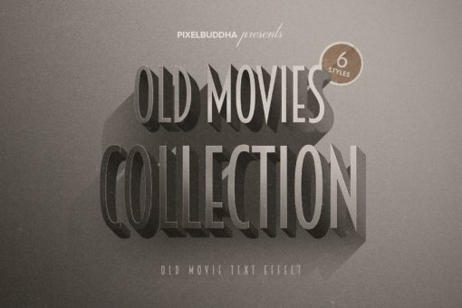 Old Movie Titles Collection (Photoshop Text Effects)