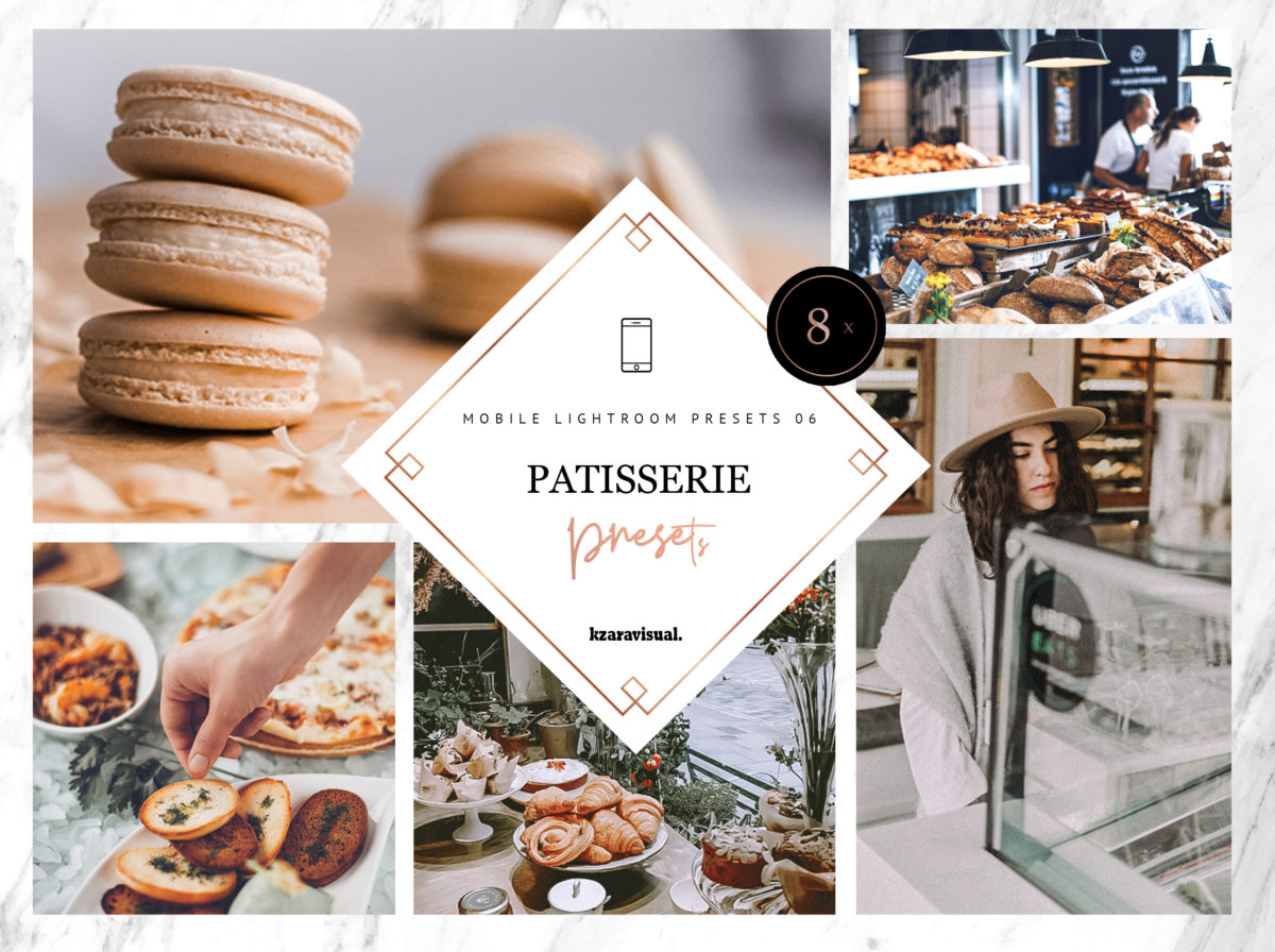 8 x Patisserie Mobile Lightroom Presets