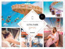 5 x Luna Park Mobile Lightroom Presets