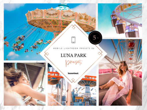5 x Luna Park Mobile Lightroom Presets