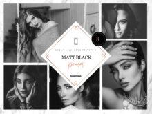 8 x Matt Black Mobile Lightroom Presets