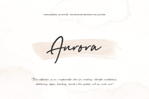Aurora Watercolor Brushes Collection (Photoshop)