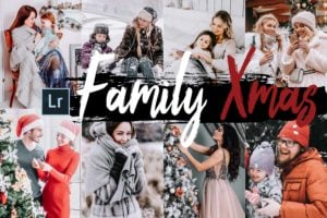 5x Family Xmas Desktop Lightroom Presets