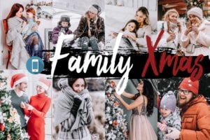 5x Family Xmas Mobile Lightroom Presets