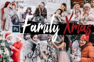 5x Family Xmas Photoshop Actions and LUTs Kit