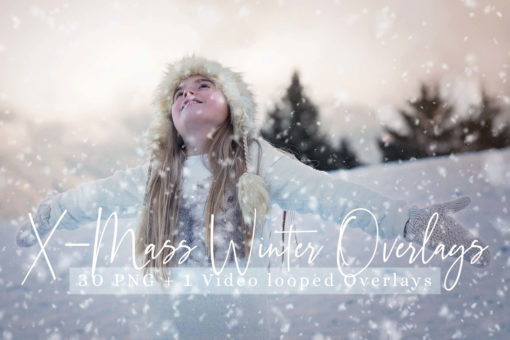 31 X-Mass Winter Snow Photo Overlays + 1 Video Loop