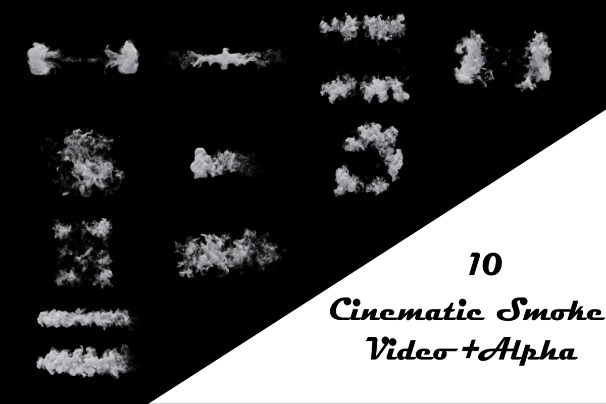 10 Cinematic Smoke Video Pack Alpha