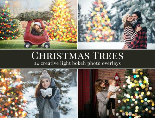 Christmas Tree Photo Overlays