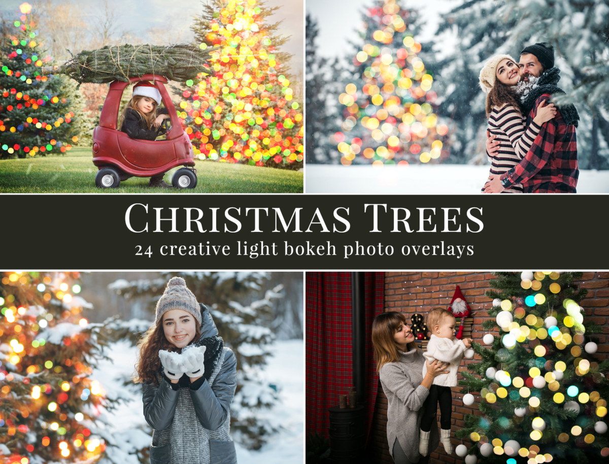 Christmas Tree Photo Overlays