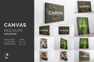 Canvas Print Mockups Bundle