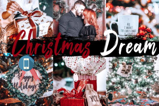 5x Christmas Dream Mobile Lightroom Presets