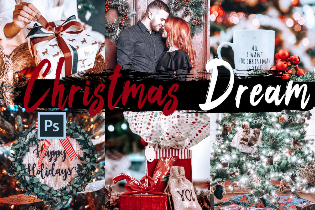 5x Christmas Dream Photoshop Actions and LUTs