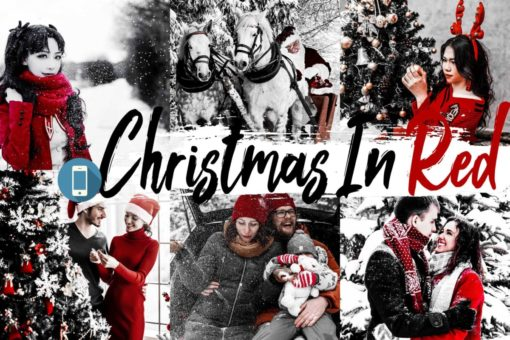 5x Christmas In Red Mobile Lightroom Presets