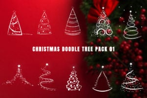 Christmas Doodle Tree Video Overlays Pack 01