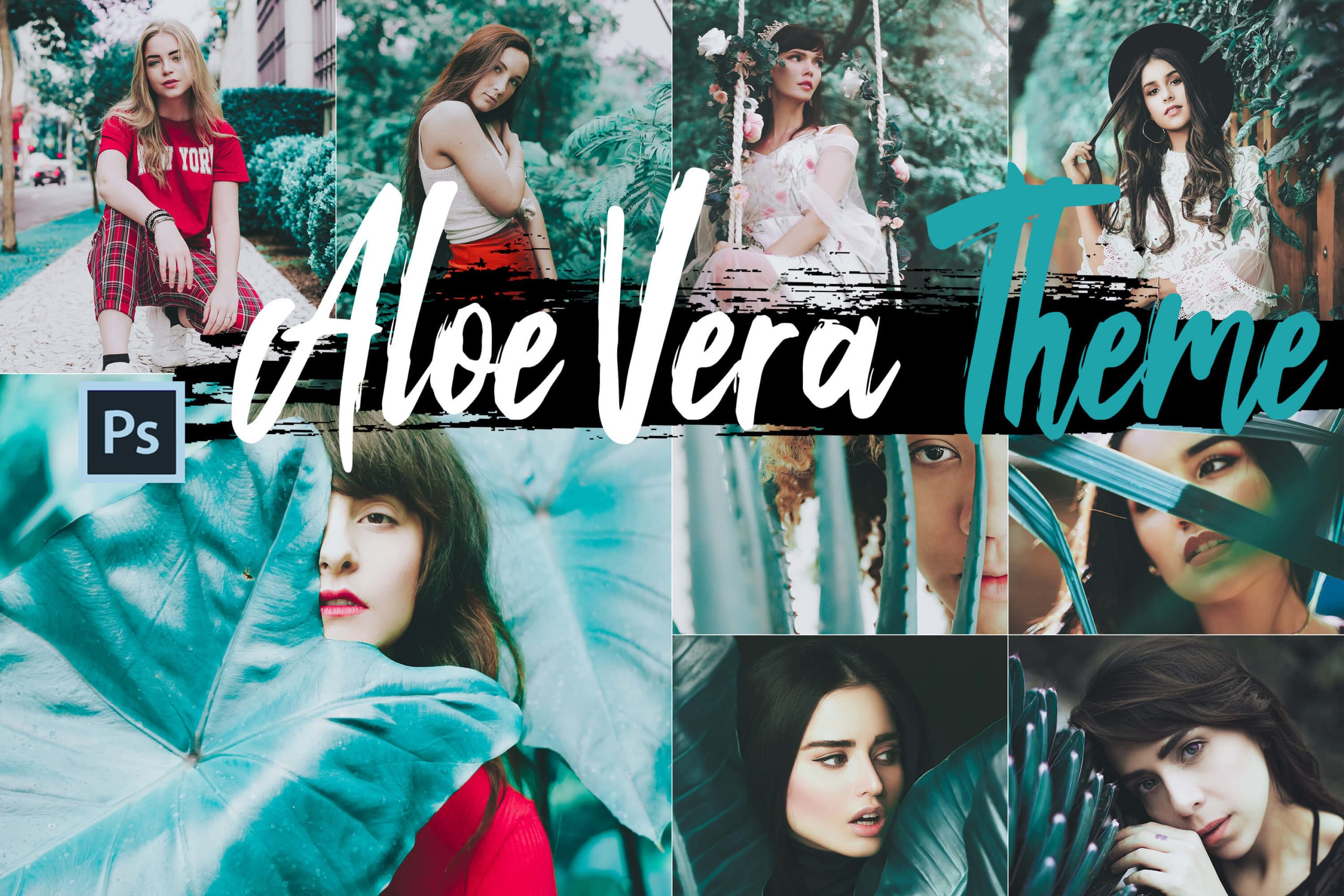 Aloe Vera Theme Photoshop Actions and LUTs