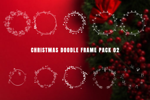 Christmas Doodle Frame Pack 02 (Animation Loops)