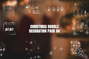 Christmas Doodle Decoration Pack 04