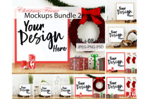 Christmas Frames Mockup Bundle Volume 02