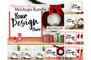 Christmas Frames Mockup Bundle Volume 02