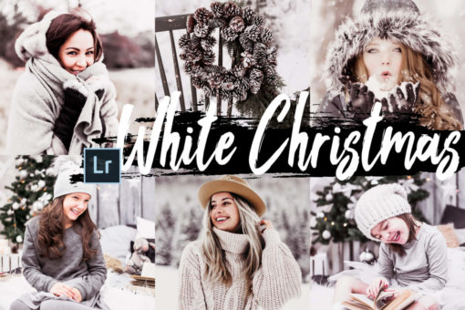 5x White Christmas Desktop Lightroom Presets