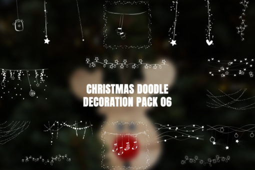 Christmas Doodle Decoration Pack 06 Video Overlays