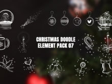 Christmas Doodle Elements Pack 07 Video Overlays