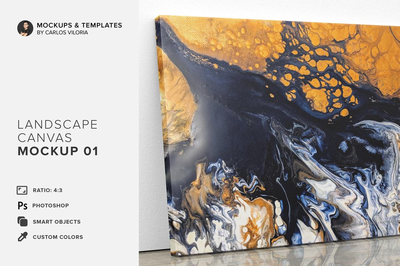 landscape canvas mockup 01 from carlos viloria