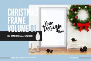 Christmas Frame Mockup Volume 01