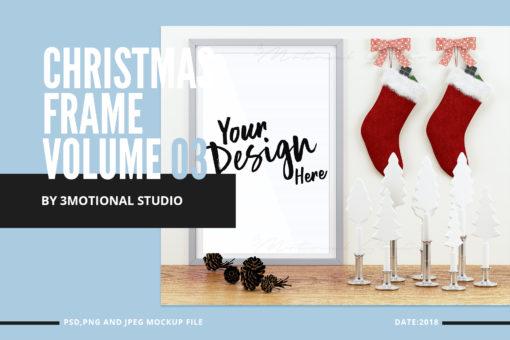 Christmas Frame Mockup Volume 03