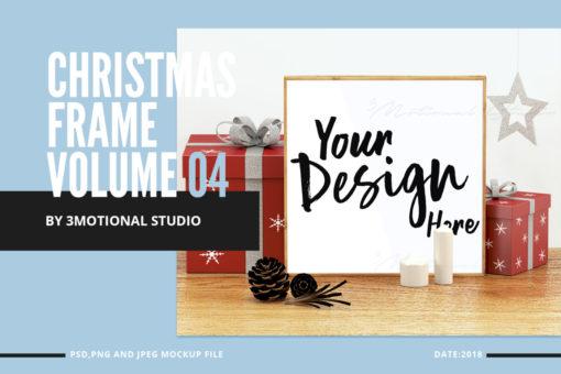 Christmas Frame Mockup Volume 04