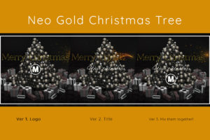 Neo Golden Christmas Tree 3D Animation